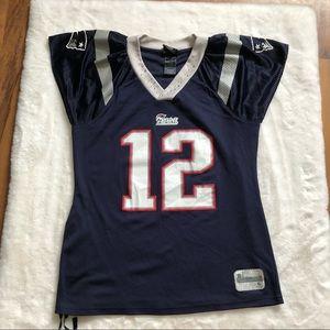 Patriot reebok top brady #12 jersey